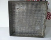 Vintage Ovenex Cake Pan Ten Inches Square Cottage Chic 1960s