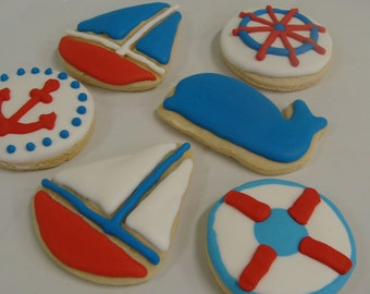 Nautical Themed Cookie Set