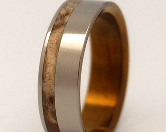 wedding rings, titanium rings, wood rings, mens rings, Titanium Wedding Bands, Eco-Friendly Wedding Rings, Wedding Rings - SILVER FAUN