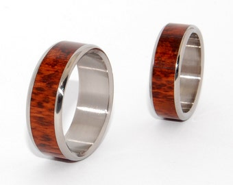 wedding rings, titanium rings, wood rings, mens rings, Titanium Wedding Bands, Eco-Friendly Wedding Rings, Wedding Rings - TEMPTED