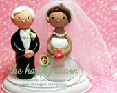 Cake Topper CUSTOM Wedding Cake Topper - Handmade Customized Sculpted Bride and Groom Figures to Look Like You