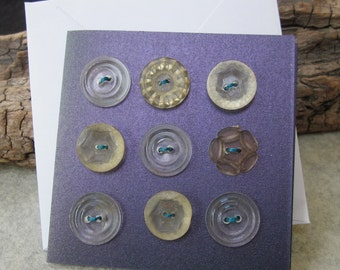 9 Mixed Vintage Acrylic Buttons