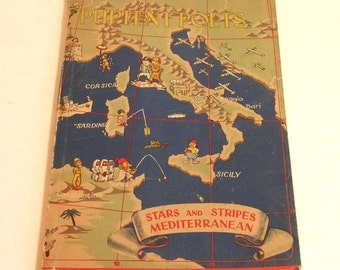 Puptent Poets Stars And Stripes Mediteranean 1945 Book Of World War II Poetry