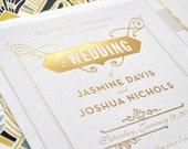 Gold Foil Gatsby Wedding Invitation