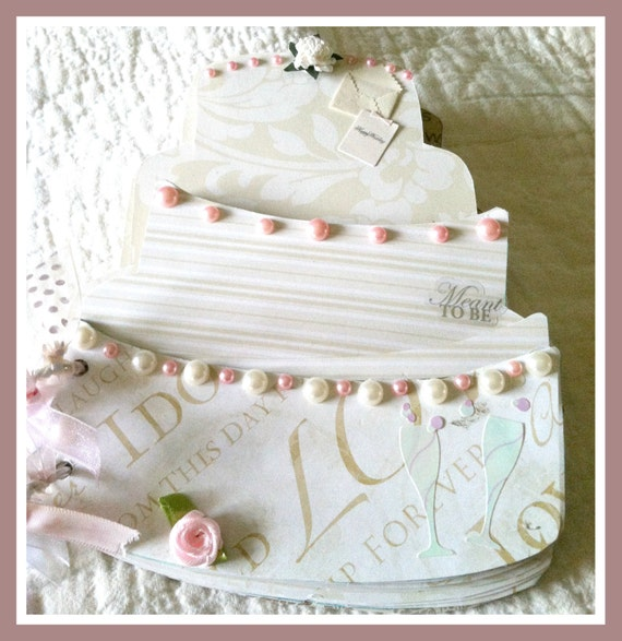 Premade Scrapbook Album Wedding Cake In By Paperpiecesbyvicki