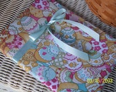 RESERVED for smileysshopping - SALE PRICE - Easter Eggs Fabric Journal Cover - pink and aqua