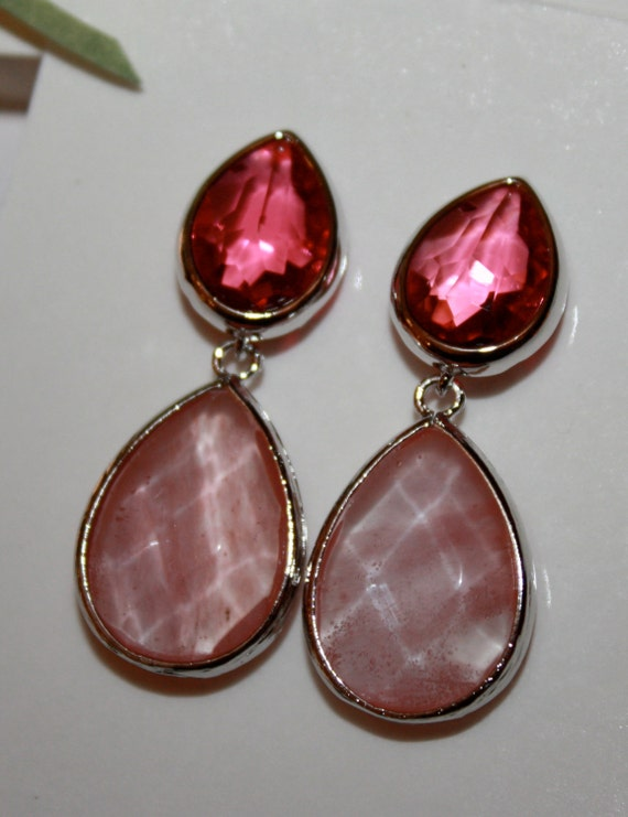 ruby post earrings 925 sterling silver post rhodium plated