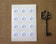Fern Stickers One Inch Round Seals