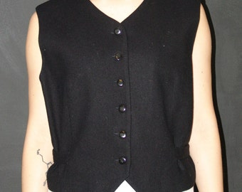 Vintage Black VEST, Worthington, 1980s