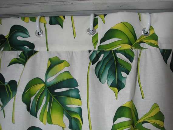 Palm Leaves Shower Curtain ***