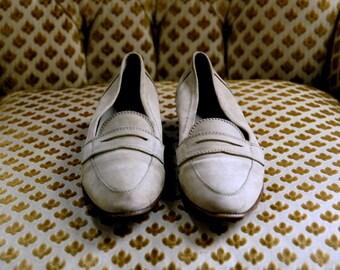 SALE khaki loafers 7 - 7.5 NARROW