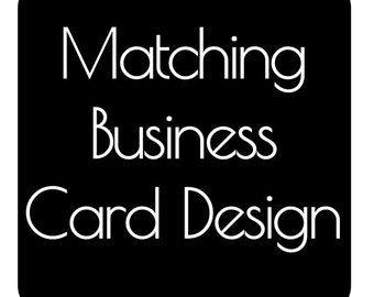 Made To Match Business Card Design