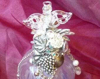 Purple Rain Mystic Glass Angel, Home Decor, Spirit Jar, Art Glass