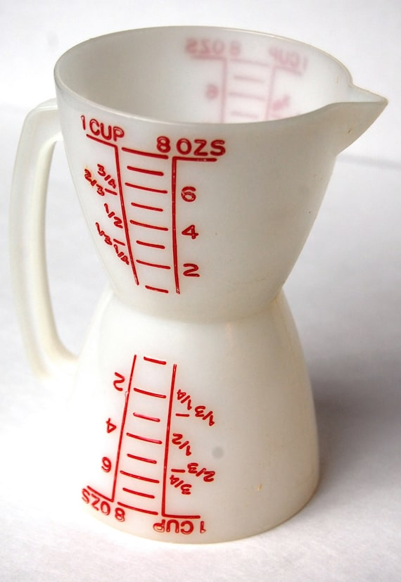 Vintage Tupperware Wet Dry Measuring Cup By Sacklunchtime