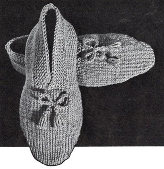 Easy Bed Socks Knitting Pattern 2 Needles : KNITTING PATTERNS MEN S SLIPPERS 1000 Free Patterns