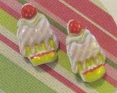 Ice Cream Sundae Earrings, Super Light Weight