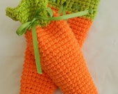 Crocheted Carrot Treat Bags/ Carrot Bags/ Easter Treat Bags