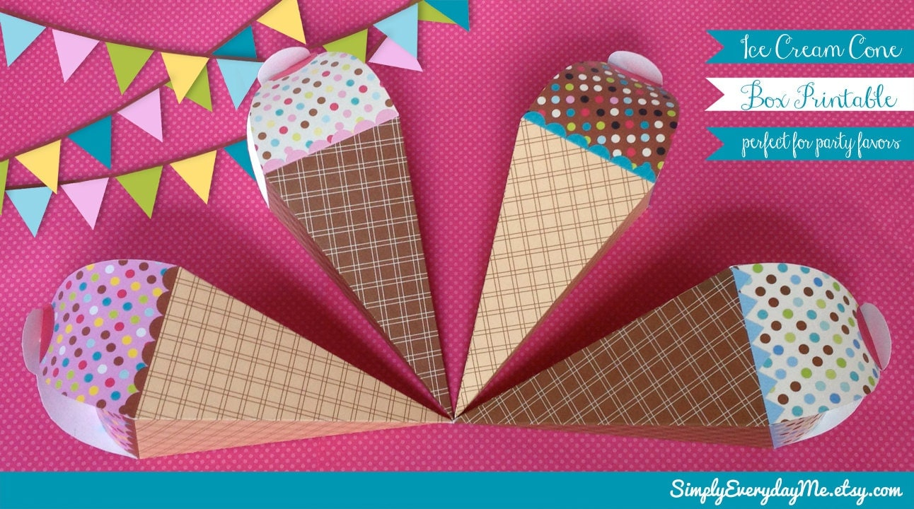 Ice Cream Gift Card Holder Ice Cream Cone Gift or Favor