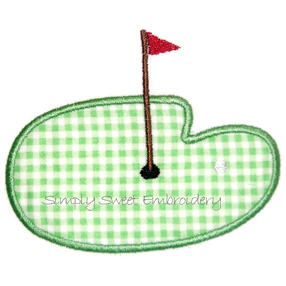 Golf Applique Machine Embroidery Design By SimplySweetEmbroider