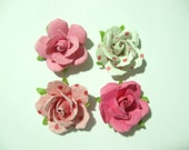 LIMITED EDITION-Handcrafted Paper Flower Lapel Pin / Boutonniere -Shades of Pink - you choose 1