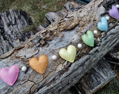Felt Rainbow Heart Garland in Pastel Colors