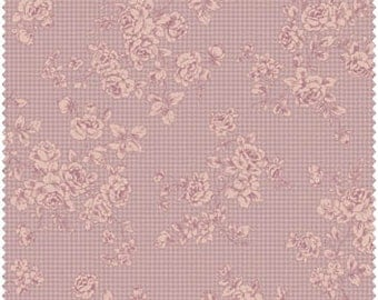Grace Fabric Collection by Quilt Gate MR2140-16E Lilac Tonal Rose