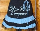 Ruffled Skirt from an Upcycled Twilight Vampire TShirt