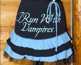 Ruffled Skirt from an Upcycled Twilight Vampire TShirt