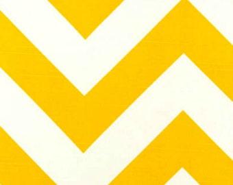 SALE - Premier Prints Fabric Zippy Chevron in Corn Yellow and White Slub - Half Yard