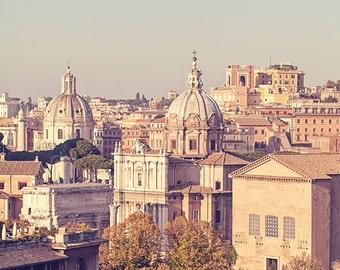 Rome Architecture Landscape Travel Photography, Italian Art Decor, Pastel Fine Art Photograph - Pastello