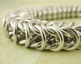 SALE - Uber Inca Puno Bracelet Kit - Custom Chainmaille - Hand Crafted Aluminum Jump Rings