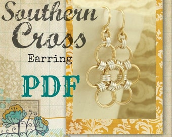 Fast and Easy Southern Cross Earrings PDF Tutorial