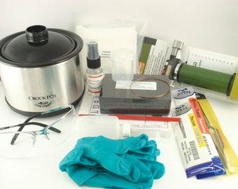 Soldering Kit for Copper and Bronze - Torch,Tweezers, Pad, Block, Non Toxic Pickle, Glasses, Gloves