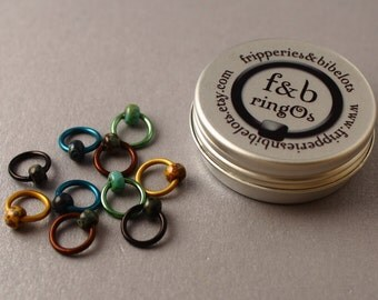 ringOs Patina - Snag-Free Ring Stitch Markers for Knitting