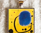 Art Photo Pendant - Resin Pendant - ((( Joan Miró painting ))) - INCREDIBLE PRICE