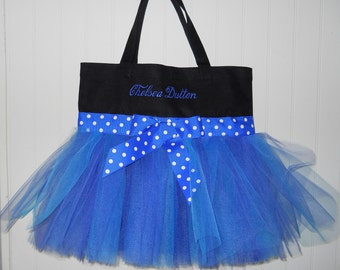 Dance bag, tutu tote bag, ballet bag, Personalized Dance Bag, Black Tote Bag, Princess tote bag, Naptime 21, Tutu Tote Bag TB285
