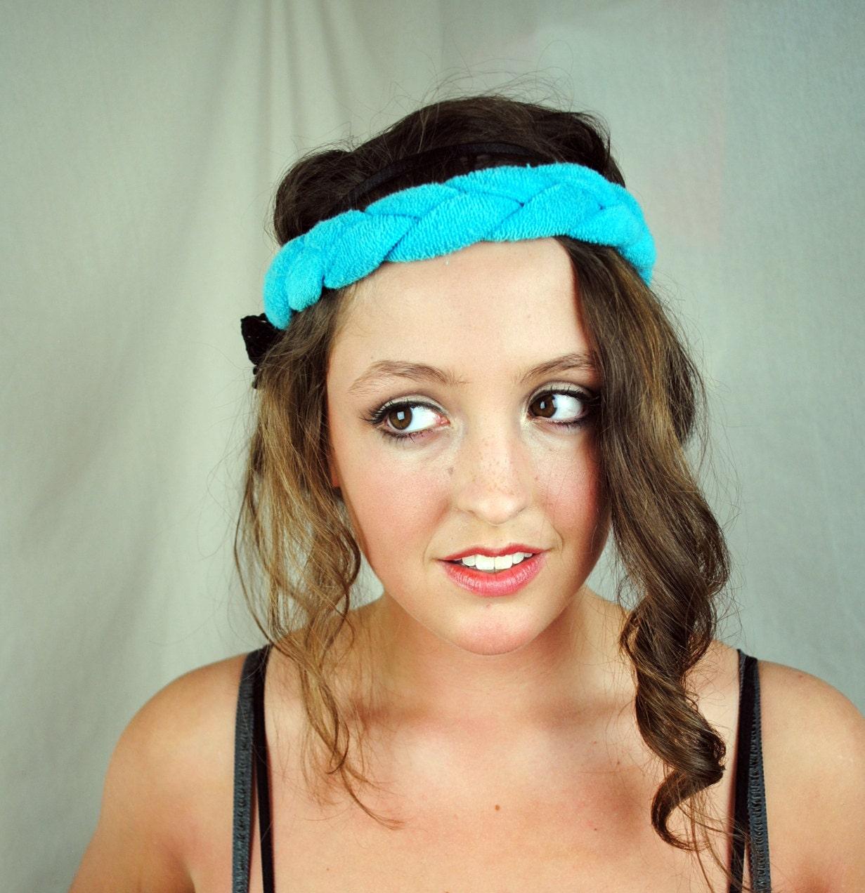 Astounding Vintage Teal Braided 80S Headband Hairstyle Inspiration Daily Dogsangcom