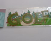 GOLF COURSE Title Jolee's Boutique Scrapbooking Supplies stickers - Tee, Clubs, Father