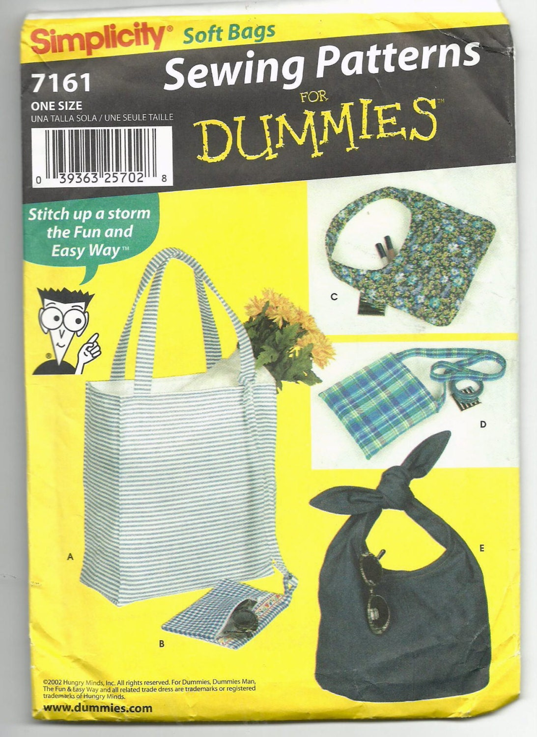 Free Quilt Patterns For Dummies : Uncut Sewing Patterns for Dummies Simplicity 7161 Soft