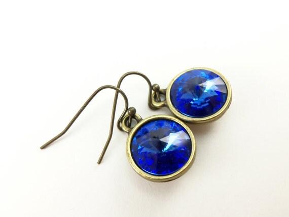Sapphire Drop Earrings September Birthstone Earrings by ...