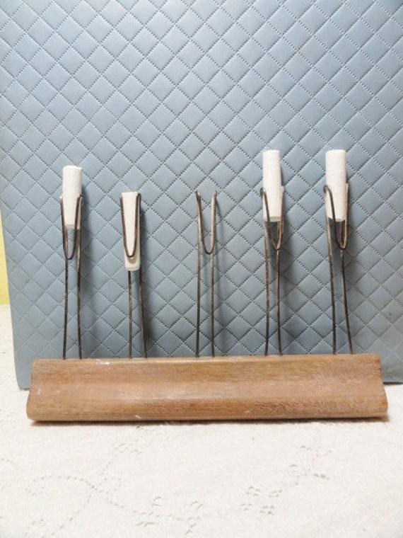 Vintage Chalk Holder School Teacher Line Marker Wood and Wire