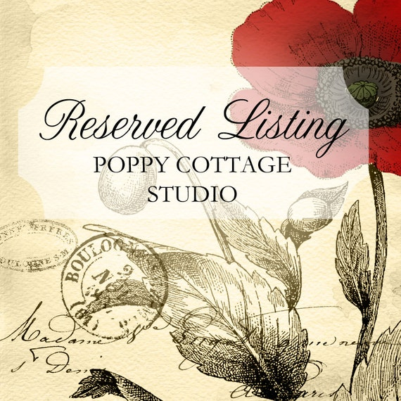 Reserved Shabby Cottage Twin Headboard Poppy Cottage
