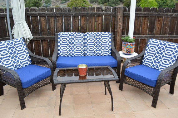 patio cushion covers only custom order only