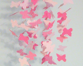 Pink Butterfly Nursery Mobile Girl Nursery Decor