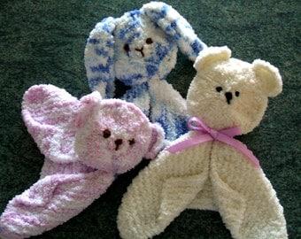 SALE! Cuddle Blankie Knitting Pattern pdf