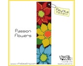 Peyote Bracelet Pattern: Passion Flowers - INSTANT DOWNLOAD pdf - New coupon codes