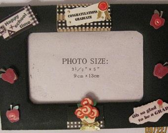 Black Graduate Altered Photo Frame