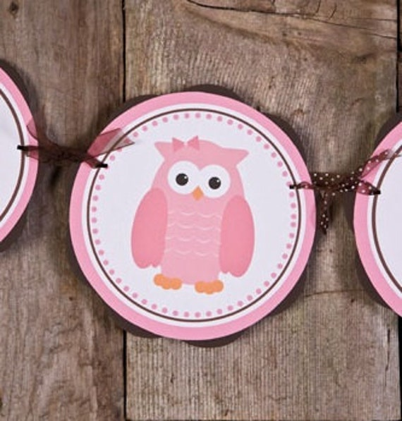 owl themed its a girl baby shower banner owl baby shower decorations