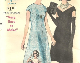 Vogue 5480 Dress sz 14 Vintage 1960s Pattern FF