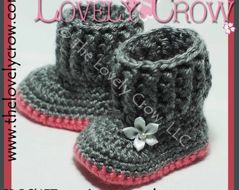 Baby Uggs Crochet Pattern BABY SNUGGLY SNUGGS digital